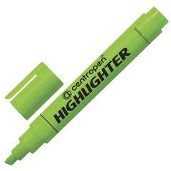 Текстмаркер CENTROPEN, скошенный наконечник 1-4,6 мм, неоновый, зеленый