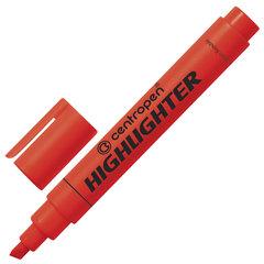 Текстмаркер CENTROPEN, скошенный наконечник 1-4,6 мм, неоновый красный