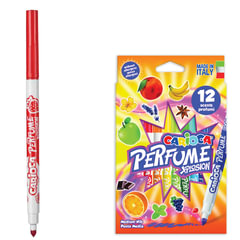 """Фломастеры ароматизированные CARIOCA (Италия) """"Perfume xplosion"""", 12 цветов, смываемые, картонная упаковка"""