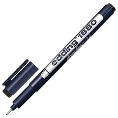 """Ручка капиллярная EDDING """"Drawliner"""" 1880, толщина письма 0,4 мм, водная основа, черная"""
