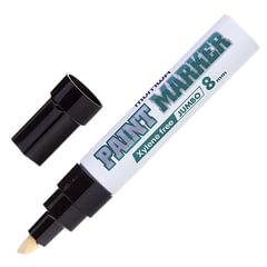 """Маркер-краска лаковый (paint marker) MUNHWA """"Jumbo"""", 8 мм, ЧЕРНЫЙ, нитро-основа, алюминиевый корпус"""