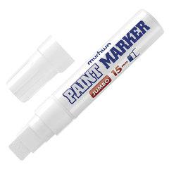 """Маркер-краска лаковый MUNHWA """"Jumbo"""", БЕЛЫЙ, 15 мм, нитро-основа, алюминиевый корпус"""