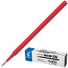 """Стержень гелевый """"Пиши-стирай"""" PILOT BLS-FR-7, 111 мм, евронаконечник, 0,35 мм, к ручке 141835, красный"""