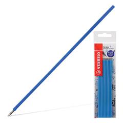 """Стержни шариковые STABILO """"Re-Liner"""", набор 10 шт., 0,38 мм, к ручке 142112, европодвес, синие"""