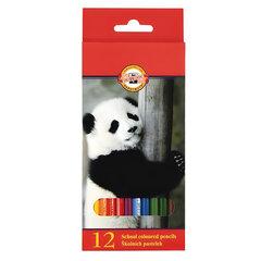 """Карандаши цветные KOH-I-NOOR """"Animals"""", 12 цветов, грифель 2,8 мм, заточенные, европодвес"""