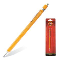 Карандаш механический KOH-I-NOOR, корпус желтый, цанговый, точилка, 2 мм