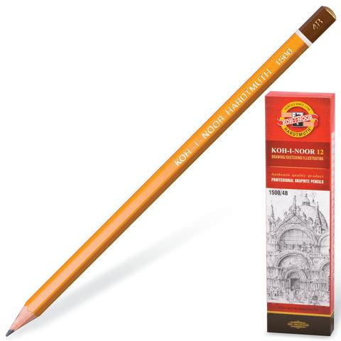 Карандаш чернографитный Koh-i-Noor 1500 H 17.5 см  1500 H