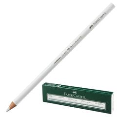 Карандаш перманентный FABER-CASTELL, 1 шт., для гладких поверхностей (стекло, металл), водоустойчивый, белый