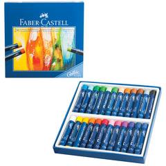 """Пастель масляная художественная FABER-CASTELL """"Studio quality"""", 24 цвета, круглое сечение"""