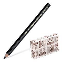 Карандаш чернографитный утолщенный KOH-I-NOOR, 1 шт., 2B, черный, грифель 5,6 мм, заточенный, картон упаковка