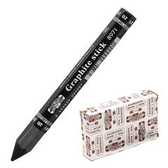 """Карандаш чернографитный KOH-I-NOOR """"Graphite stick"""", без дерева, утолщенный, 2B, 10,5 мм грифель, картонная упаковка"""