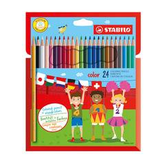 """Карандаши цветные STABILO """"Color"""", 24 цвета, грифель 2,5 мм, заточенные, картонный футляр"""