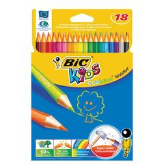 """Карандаши цветные BIC """"Kids ECOlutions Evolution"""", 18 цветов, пластиковые, заточенные, европодвес"""