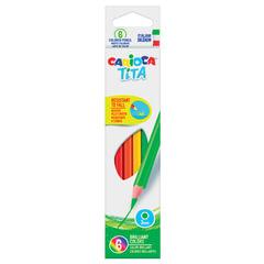 """Карандаши цветные CARIOCA """"Tita"""", 6 цветов, пластиковые, грифель 3 мм, шестигранные, европодвес"""