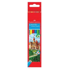 Карандаши цветные FABER-CASTELL, 6 цветов, картонная упаковка с подвесом