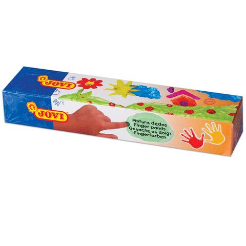 Краски пальчиковые JOVI, 5 цветов по 35 мл, на водной основе, в баночках