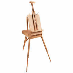 Этюдник BRAUBERG ART CLASSIC, бук, 50х34х11 см, высота холста 87 см, ножки деревянные 90 см, ремень, 190654