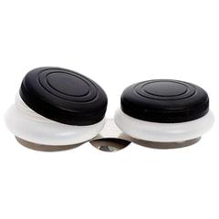 Масленка пластиковая двойная с крышкой, диаметр 5 см, высота 1,7 см