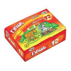 "Гуашь ГАММА ""Мультики"", 12 цветов по 40 мл, без кисти, картонная упаковка"