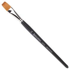 Кисть художественная профессиональная BRAUBERG ART, синтетика мягкая, под колонок, плоская, № 14, короткая ручка