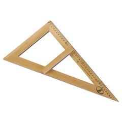 Треугольник для классной доски (треугольник классный), деревянный, 60х30х40 см, прямоугольный