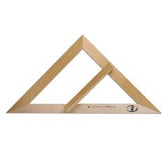 Треугольник для классной доски (треугольник классный), деревянный, 45х45х90 градусов, равнобедренный, без шкалы