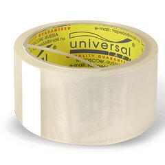 Клейкая лента упаковочная, 48 мм х 40 м, прозрачная, толщина 38 микрон, UNIVERSAL