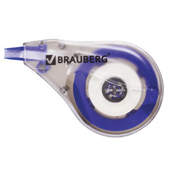 Корректирующая лента BRAUBERG, 4 мм х 8 м, в упаковке с европодвесом