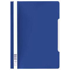 Скоросшиватель пластиковый DURABLE (Германия), А4, 150/180 мкм, темно-синий