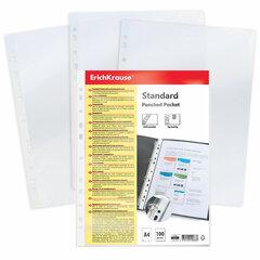 Папки-файлы перфорированные, A4, ERICH KRAUSE, комплект 100 шт., матовые, 30 мкм, 6733, 67330