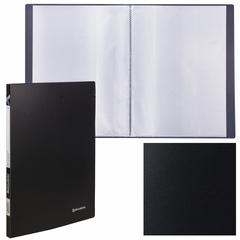 "Папка 20 вкладышей BRAUBERG ""Office"", черная, 0,5 мм"