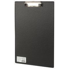 """Доска-планшет BRAUBERG """"Comfort"""" с прижимом А4 (230х350 мм), картон/ПВХ, РОССИЯ, ЧЕРНАЯ"""