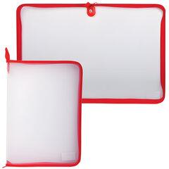 Папка на молнии пластиковая, А4, прозрачная, размер 320х230 мм