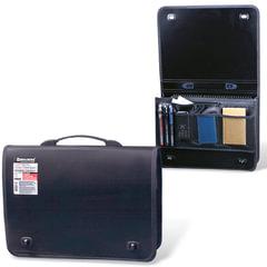 Портфель пластиковый BRAUBERG контракт, А4, 370х270х90 мм, 1 отделение, 2 накладных кармана, черный