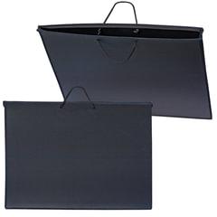 Папка для рисунков и чертежей, А2, 640х470 мм, с ручками, пластиковая, черная