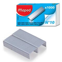 Скобы для степлера №10, 1000 штук, MAPED (Франция), до 20 листов