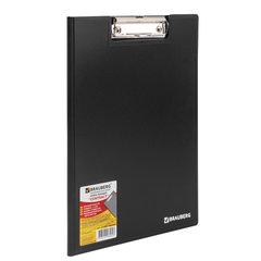 """Папка-планшет BRAUBERG """"Contract"""", А4 (315х230 мм), с прижимом и крышкой, пластиковая, черная, сверхпрочная, 1,5 мм, 223489"""