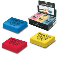 Резинка стирательная профессиональная FABER-CASTELL для чернографитного карандаша, угля, пастели, цветная