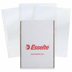 """Папки-файлы перфорированные, А4, ESSELTE """"Standard"""", комплект 100 шт., глянцевые, 55 мкм"""