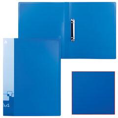 Папка на 2 кольцах БЮРОКРАТ, 27 мм, внутренний карман, синяя, до 150 листов, 0,7 мм