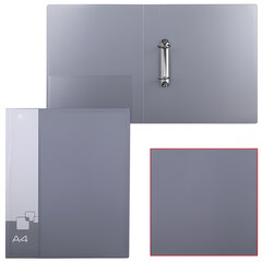 Папка на 2 кольцах БЮРОКРАТ, 40 мм, внутренний карман, ассорти, до 250 листов, 0,8 мм