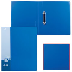 Папка на 2 кольцах БЮРОКРАТ, 40 мм, внутренний карман, синяя, до 250 листов, 0,8 мм