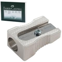 Точилка FABER-CASTELL (Германия), металлическая, клиновидная, одно отверстие