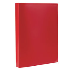 Папка 100 вкладышей STAFF, красная, 0,7 мм