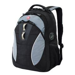 Рюкзак WENGER, универсальный, черный, серые вставки, 22 л, 32х15х46 см