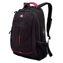 Рюкзак WENGER, универсальный, черный, розовые вставки, 22 л, 32х15х46 см