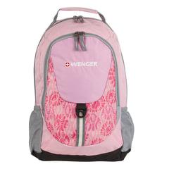 Рюкзак WENGER, универсальный, розовый, серые вставки, 20 л, 32х14х45 см