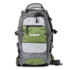 Рюкзак WENGER (Швейцария), универсальный, серо-зеленый, 22 литра, 23х18х47 см