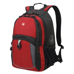 Рюкзак WENGER, универсальный, красно-черный, серые вставки, 22 л, 33х15х45 см