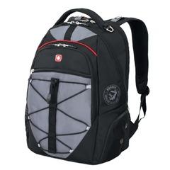 Рюкзак WENGER, универсальный, черно-серый, красные вставки, 30 л, 34х19х46 см